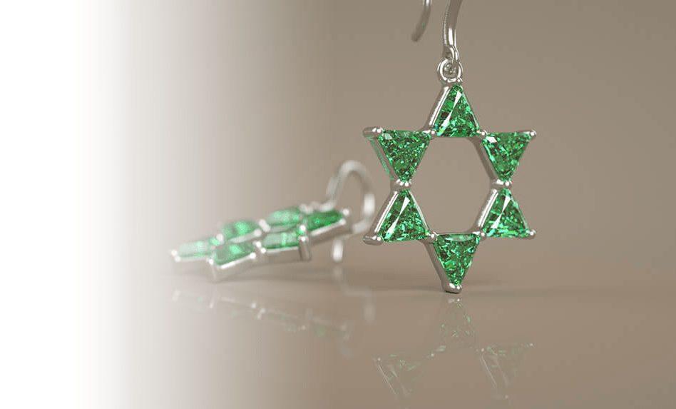 Spiritual Gemstone Jewelry - Star of David