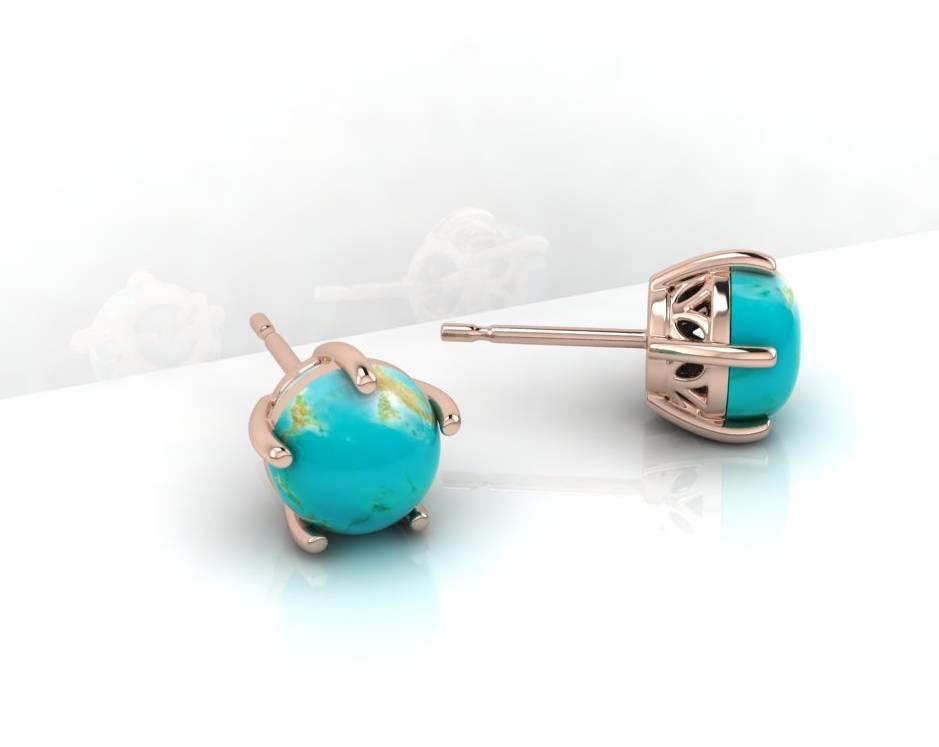 Cabochon Earring